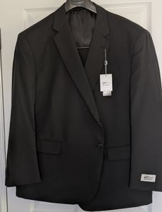 Zeke Executive Portly Suit Wool Black Set